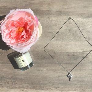 Jewelry - .925 silver diamond palm tree necklace